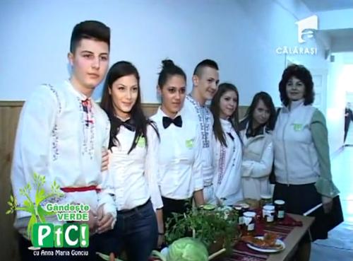 """Ecoambasadorii liceului Barbu-Ştirbei invitaţii proiectului """"Gândește Verde"""", derulat de Antena 1 Călărași"""