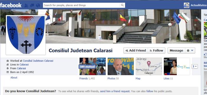 Consiliul Județean Călărași blochează, pe facebook, ziariștii care nu-i convin