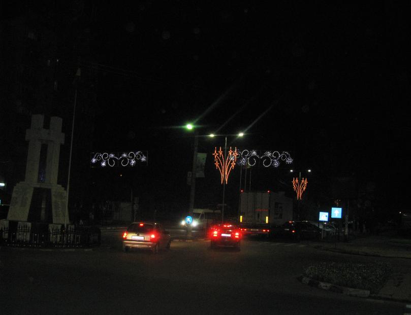 În municipiul Călăraşi, s-au aprins luminile de sărbători