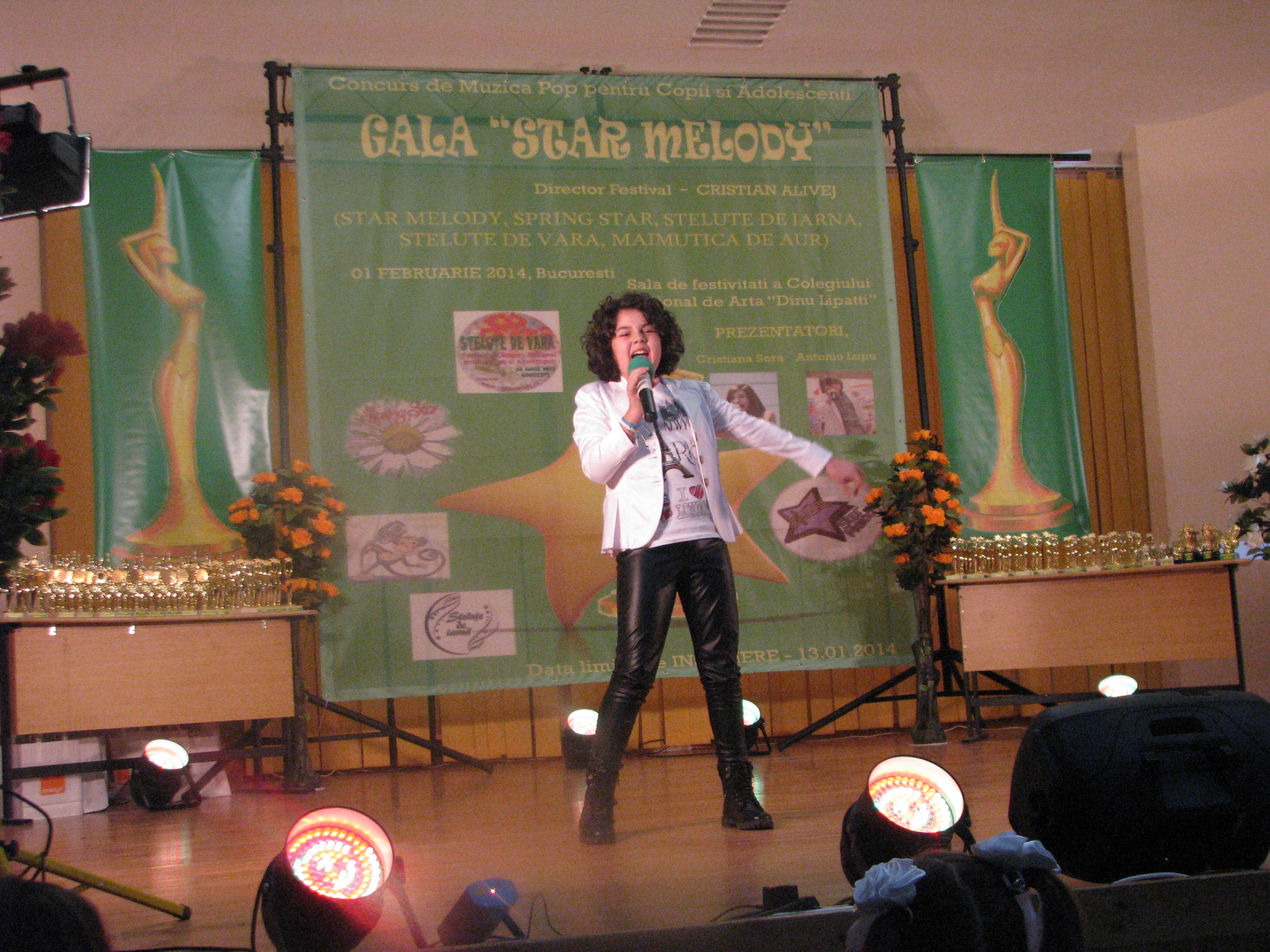 Denisa Șerban a câștigat trofeul STAR MELODY