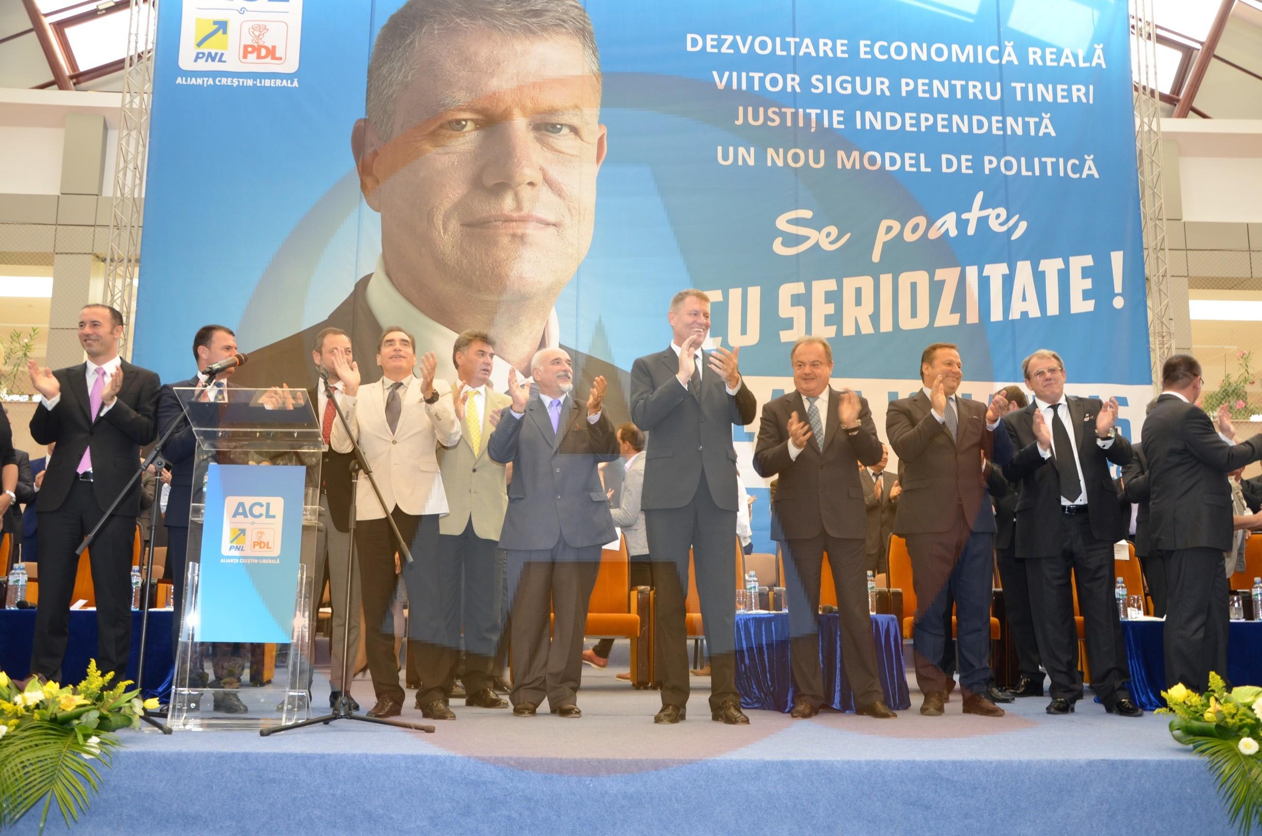 Klaus Iohannis şi-a lansat candidatura la preşedinţia României, la Călăraşi