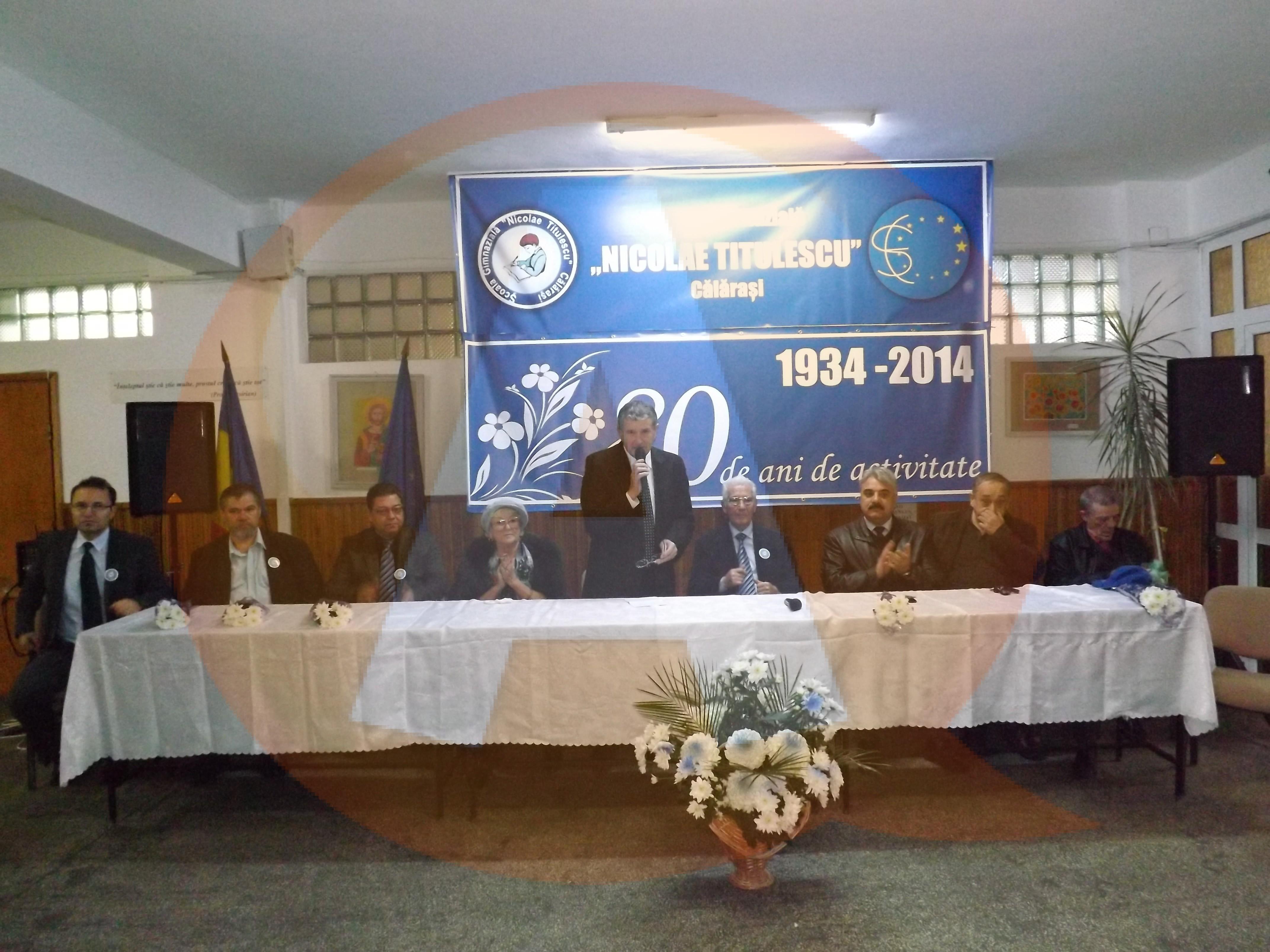 Școala Gimnazială Nicolae Titulescu Călărași a împlinit 80 de ani de activitate