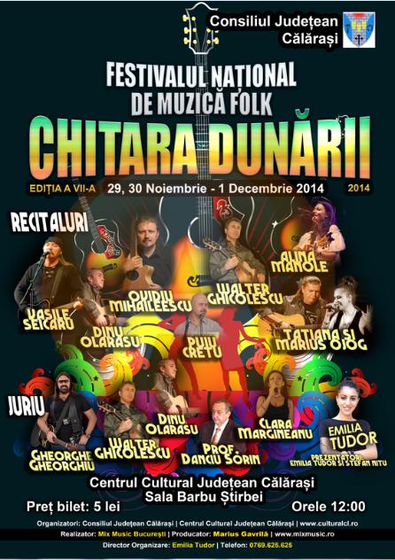 """În week-end, sunteți așteptați la Festivalului Național de Muzică Folk """"Chitara Dunării"""""""
