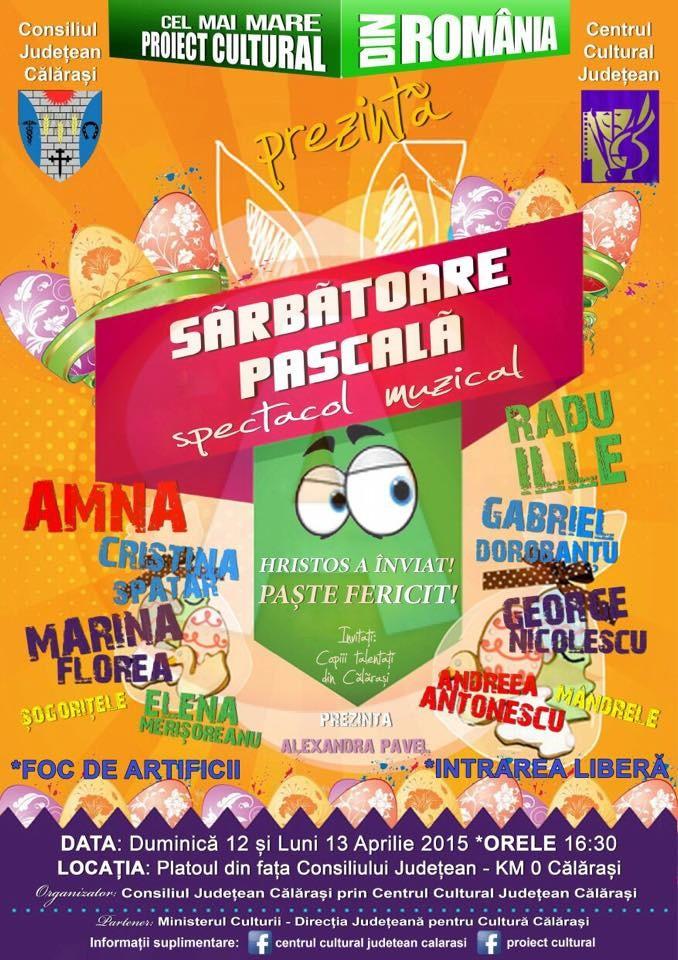 De Paști, două zile de spectacol muzical în Călărași/ Află cine va concerta