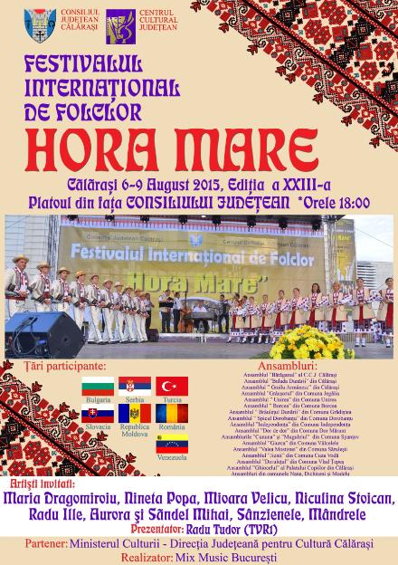 """Tradiția continuă: Festivalul Internaţional de Folclor """"HORA MARE"""" a ajuns la a XXIII-a ediție"""