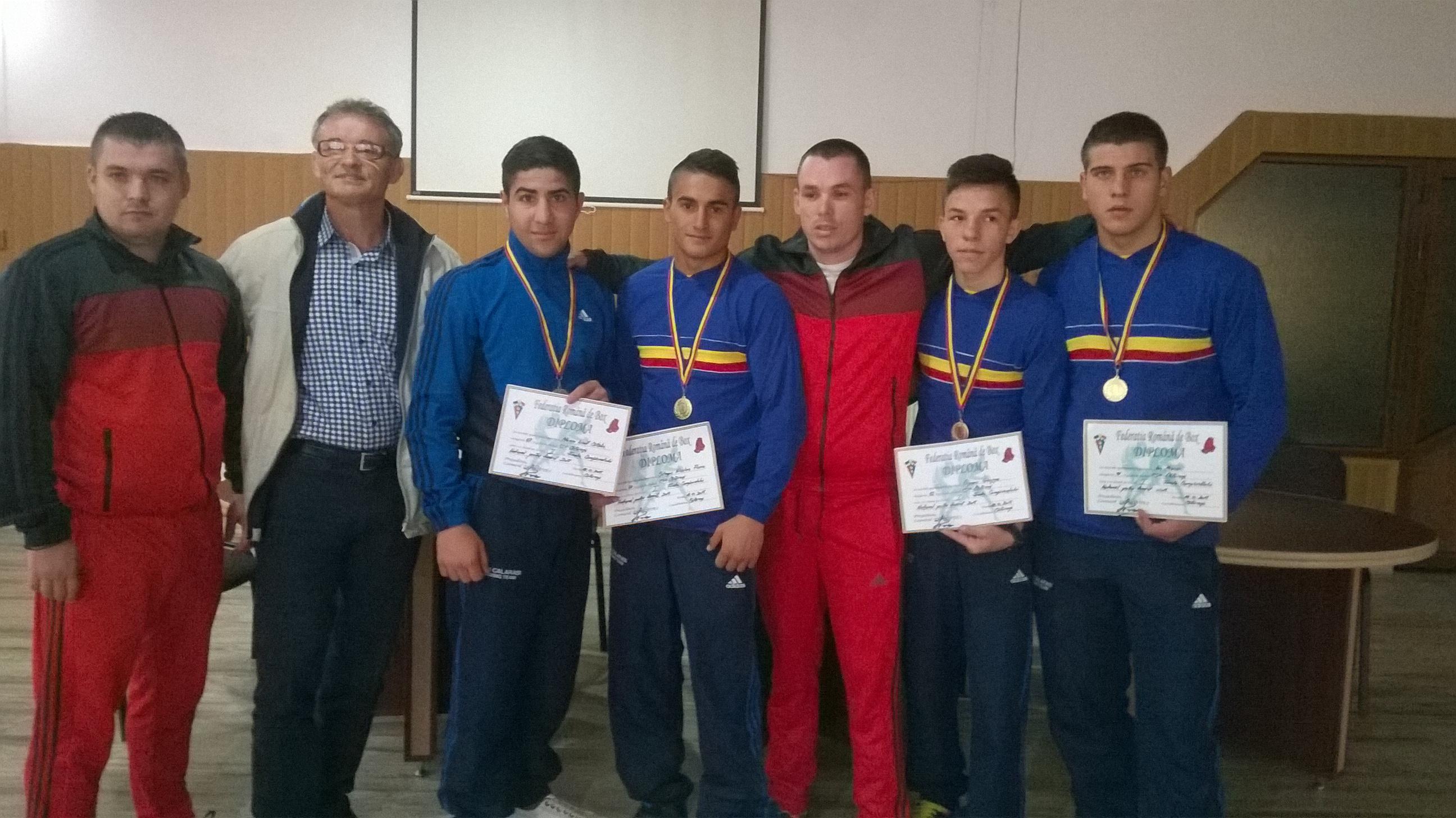 Pugiliştii călărăşeni s-au clasat pe primul loc, la Campionatul Naţional de Tineret