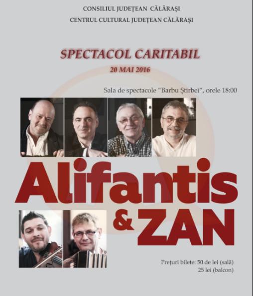 "Eveniment umanitar pentru Secția Pediatrie/ CONCERT ""ALIFANTIS & ZAN"""