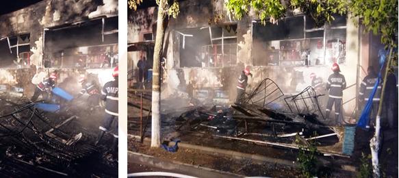 Călărași/ La Complexul Bazar Big a fost pus foc intenționat