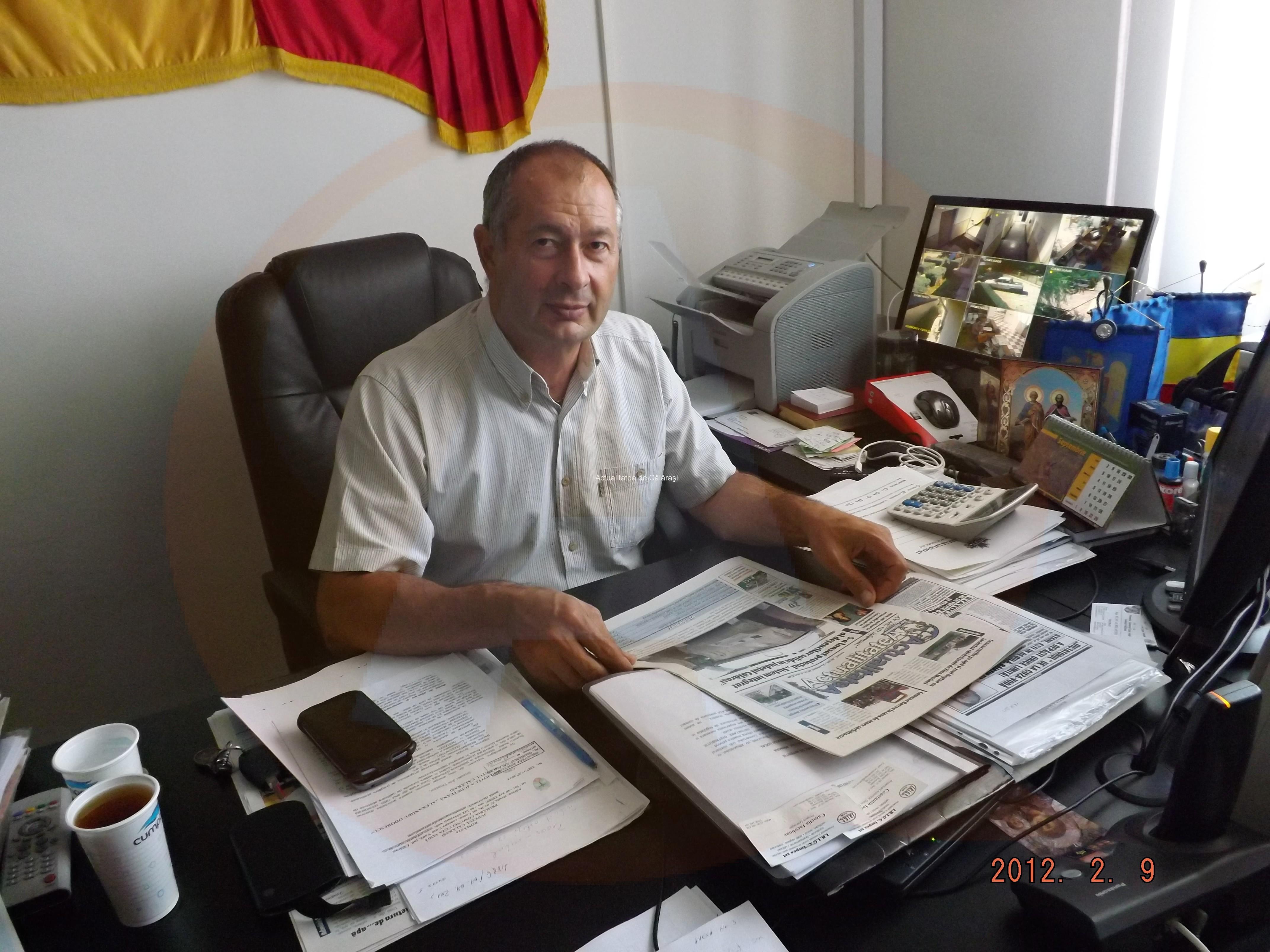 Primarul Aurel Stan/ În 8 ani, am reușit să investesc, în comuna Cuza-Vodă, bugetul pe 37 de ani