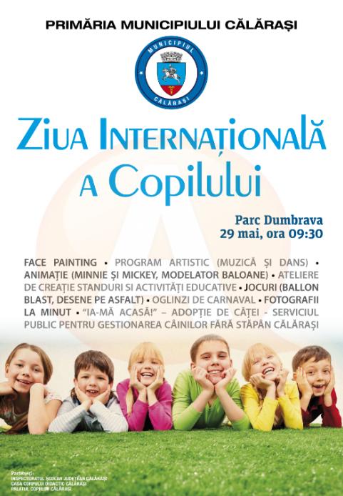 Comunicat de presa, privind organizarea Zilei Internaționale a Copilului-ediția 2016