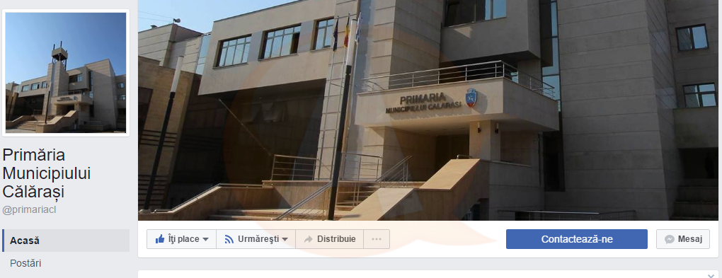 Primăria Călărași și-a lansat pagina de facebook