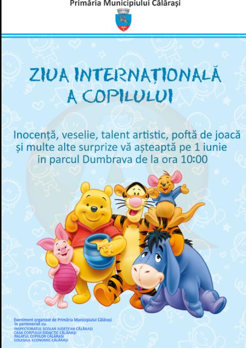 Primăria Călărași, 1 iunie/ Inocență, veselie, talent artistic, poftă de joacă și multe alte surprize