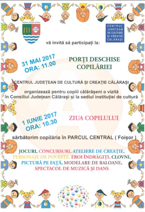 1 iunie/ Clovni, personaje de poveste și eroi îndrăgiți vor atrage copiii, din Călărași, în jocuri interactive