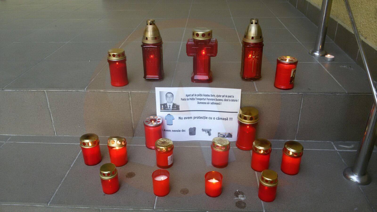 Polițiștii din Călărași au adus un omagiu colegului lor, din Suceava