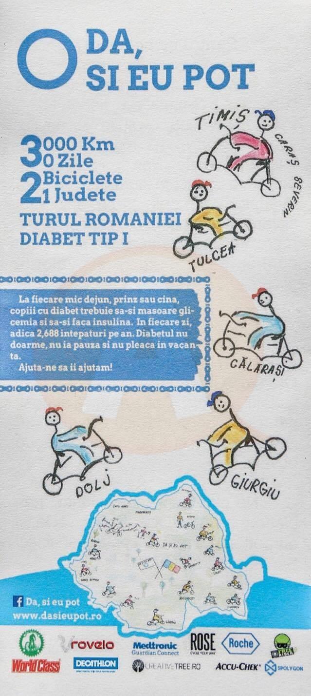 Astăzi, la Călărași/ Turul țării pe bicicletă pentru o cauză umanitară