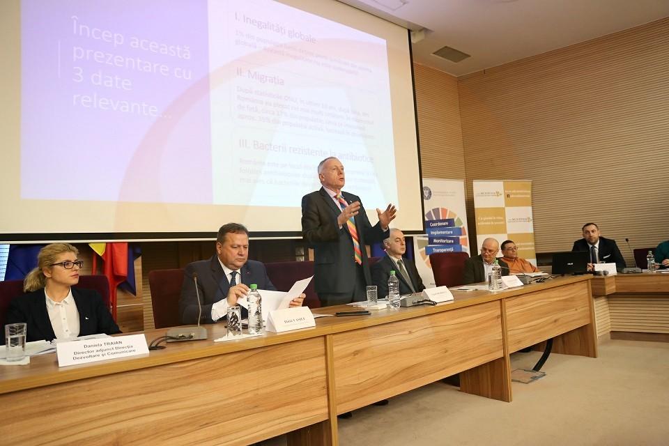 Consilierul de Stat, László Borbély, a participat la dezbaterea revizuirii Strategiei pentru Dezvoltare Durabilă, la Călărași