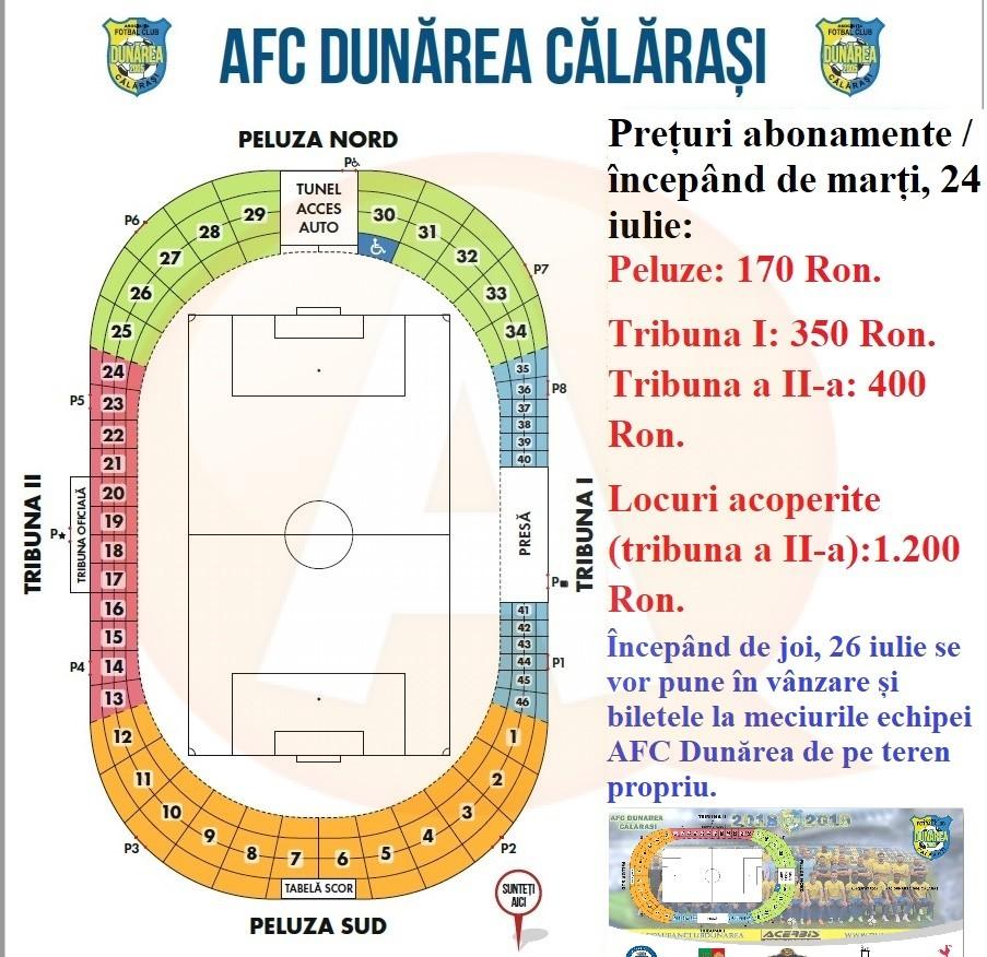 Preturi abonamente / AFC Dunarea