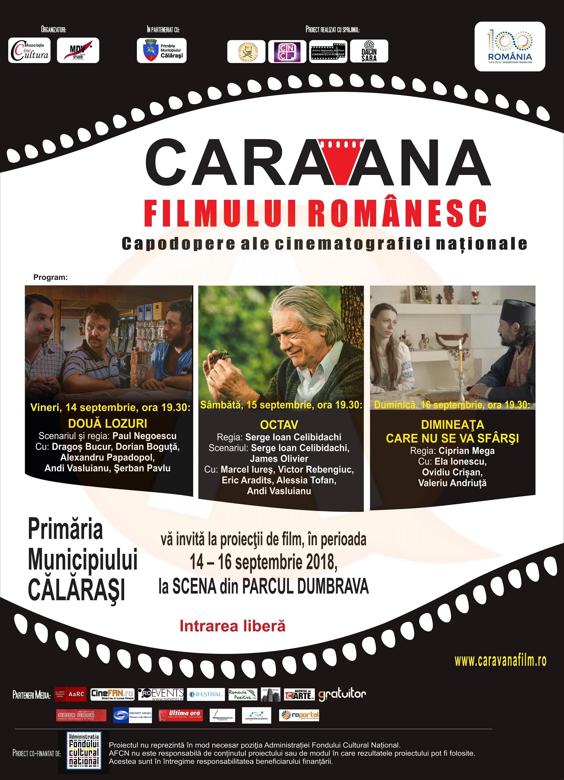 Trei seri de film romînesc la Călăraşi, în Parcul Dumbrava