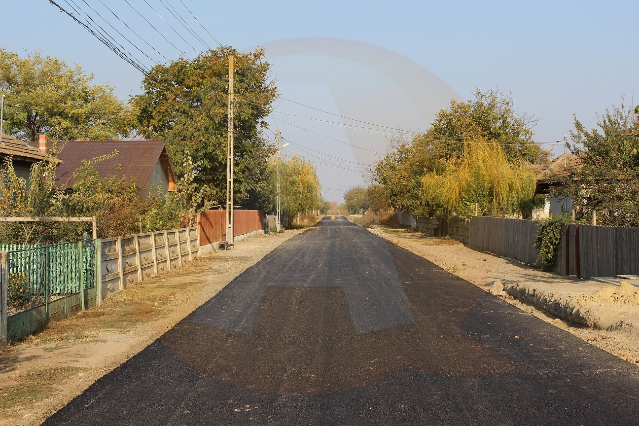 Peste 85% din străzi sunt asfaltate, în comuna Borcea