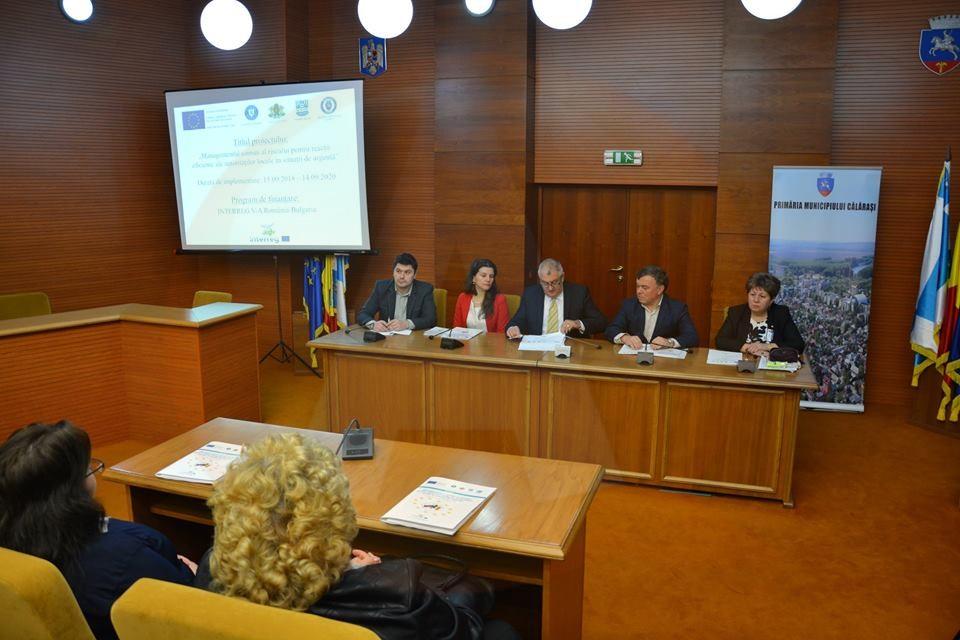 """Primăria Călăraşi a lansat proiectul """"Managementul comun al riscului pentru reacții eficiente ale autorităților locale în situații de urgență"""""""