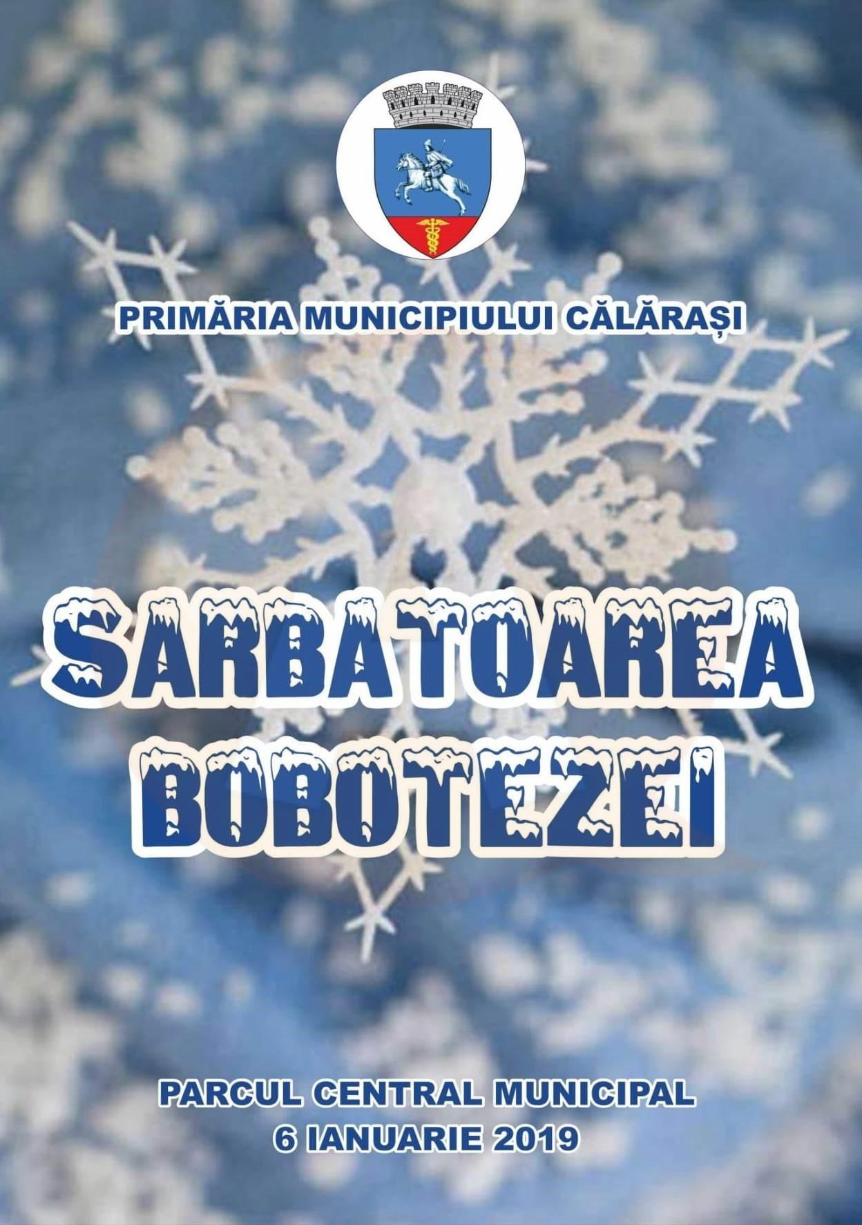Primăria Municipiului Călărași organizează tradiționala Sărbătoare a Bobotezei