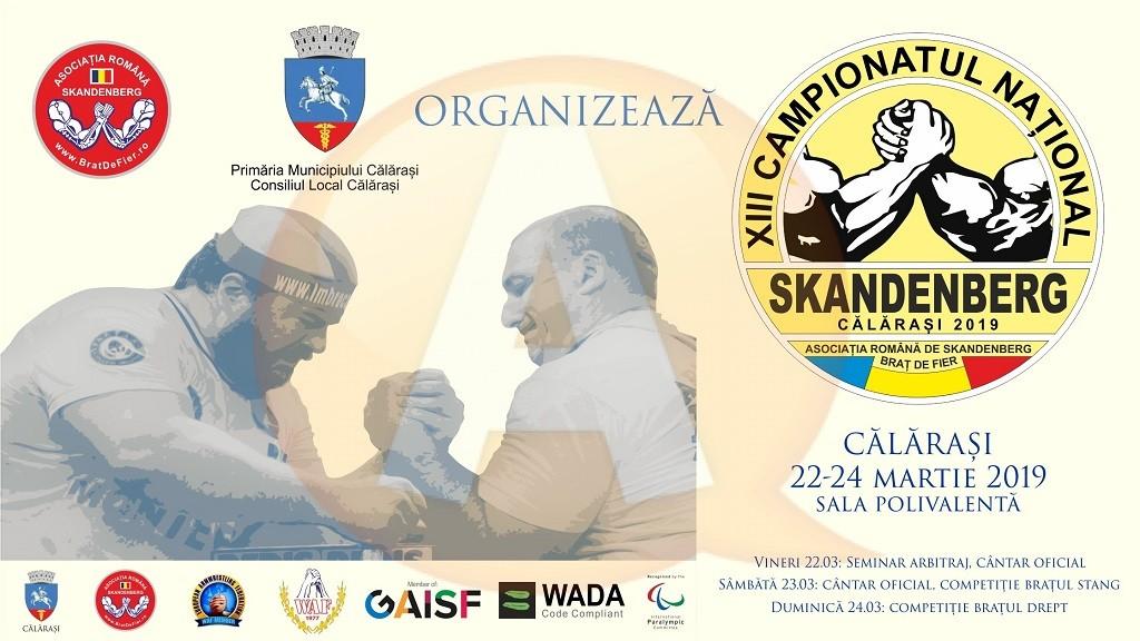 În acest weekend, la Călărași, Campionat național de Skandenberg