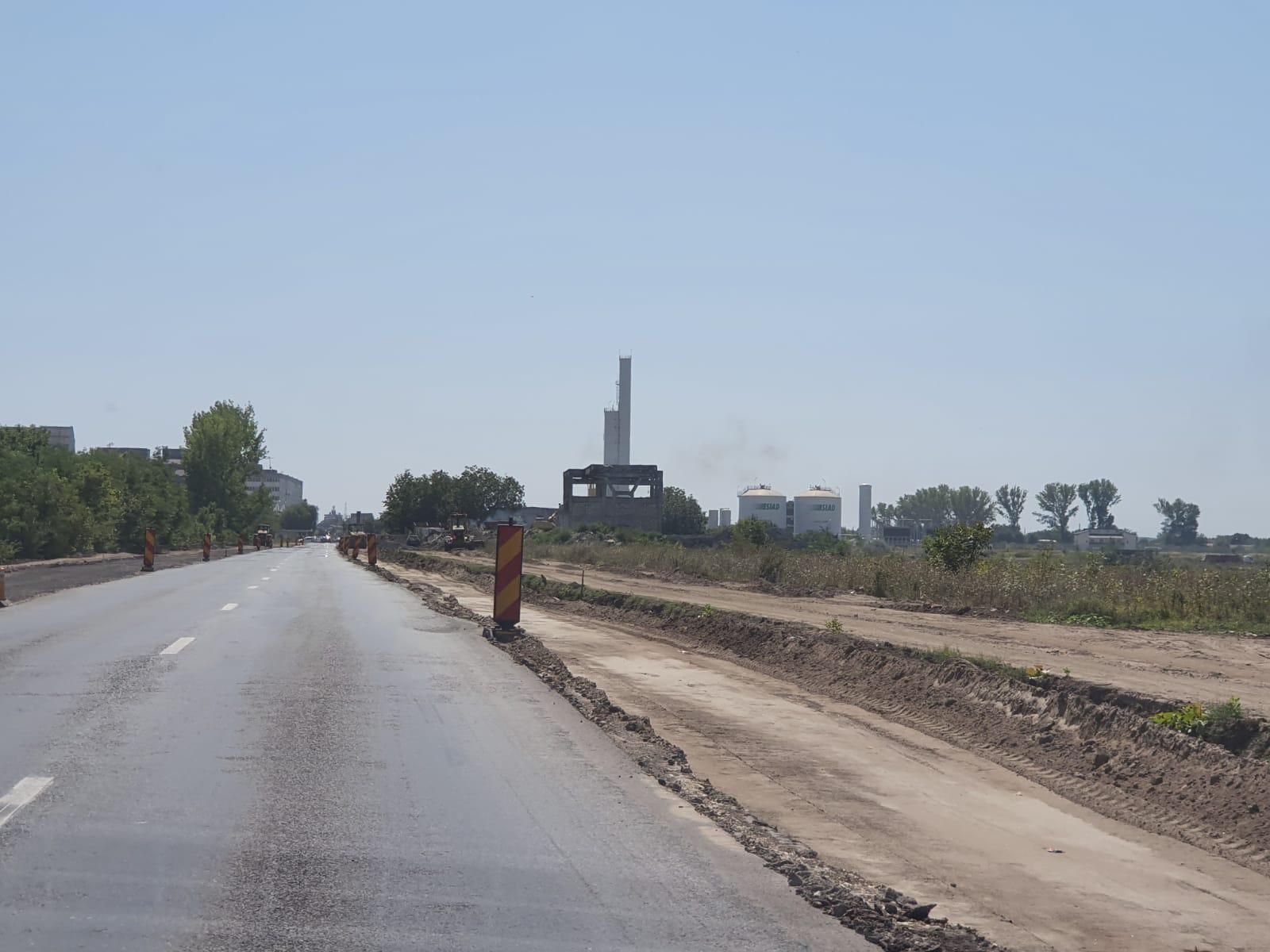Primăria Municipiului Călărași vine cu precizări legate de lucrările la drumul de acces din incinta Siderca (DJ 306A).