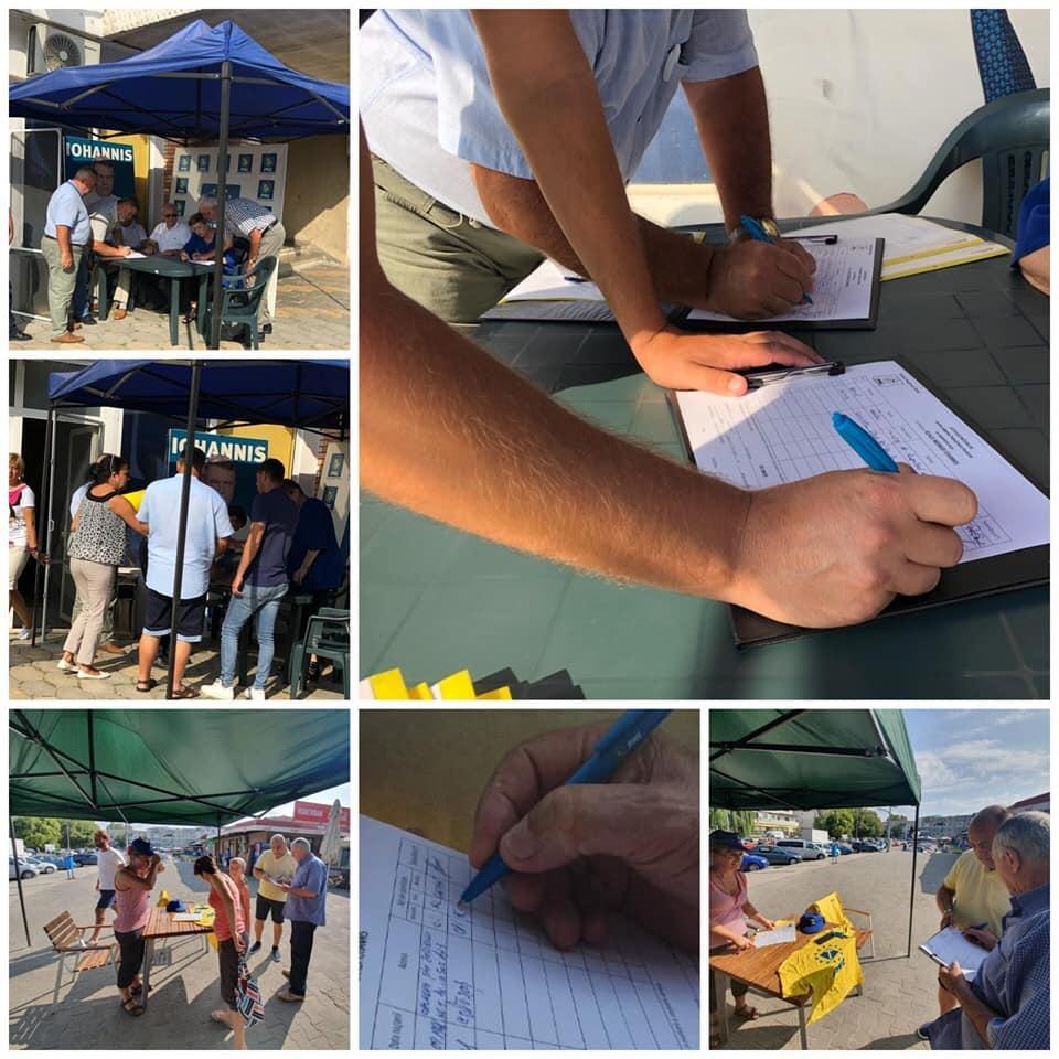 Peste 38.000 de semnături pentru Klaus Iohannis, strânse de PNL Călărași