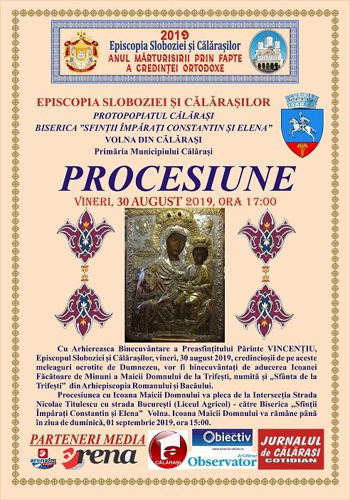 Comunicat de presă privind procesiunea cu icoana făcătoare de minuni a Maicii Domnului