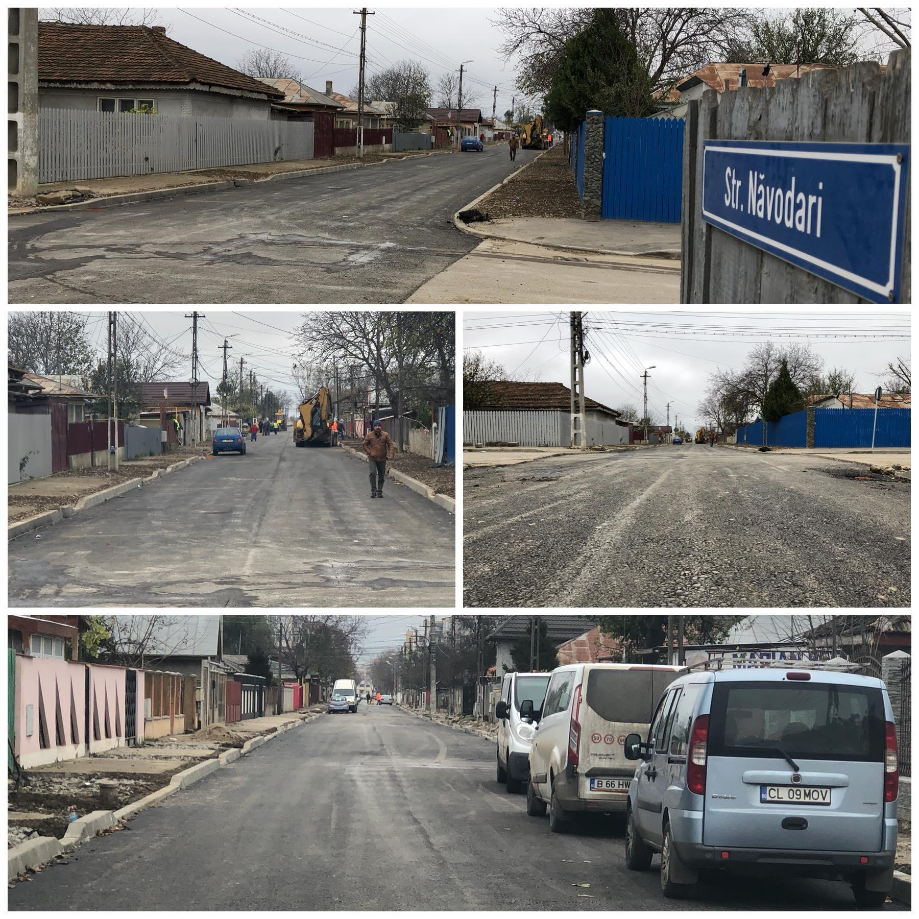 A fost finalizată turnarea primul strat de asfalt pe strada Năvodari