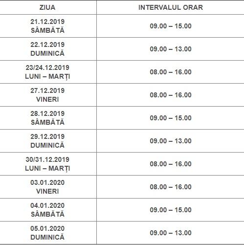 Program de eliberare a certificatelor de cazier judiciar, în perioada sărbătorilor de iarnă