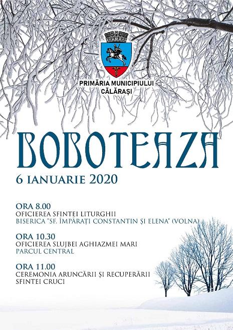 Călărași/ Programul Sărbătorii de Bobotează – ediția 2020