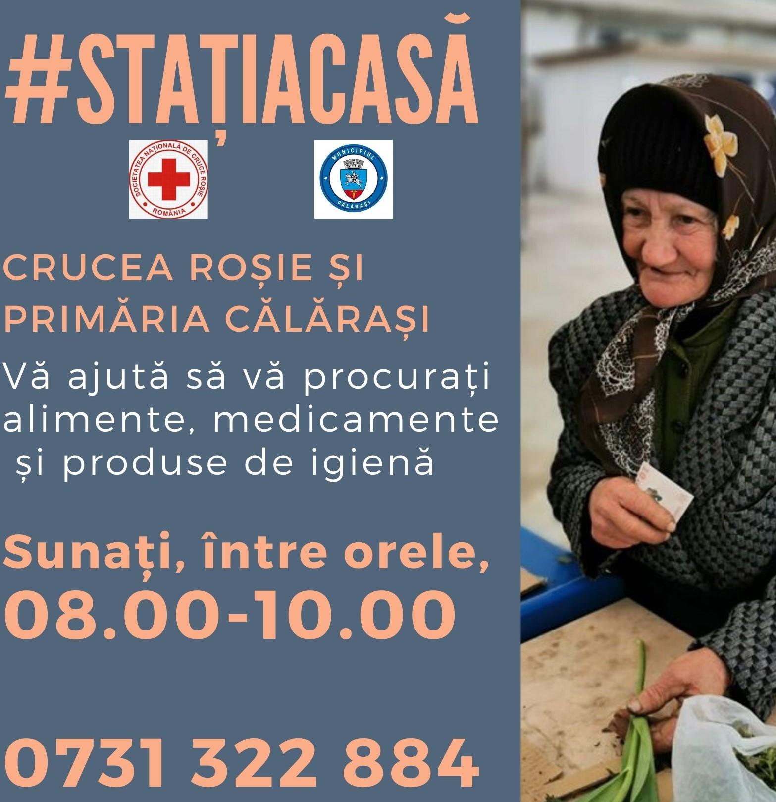 Crucea Roșie Română-filiala Călărași îi ajută cu voluntari