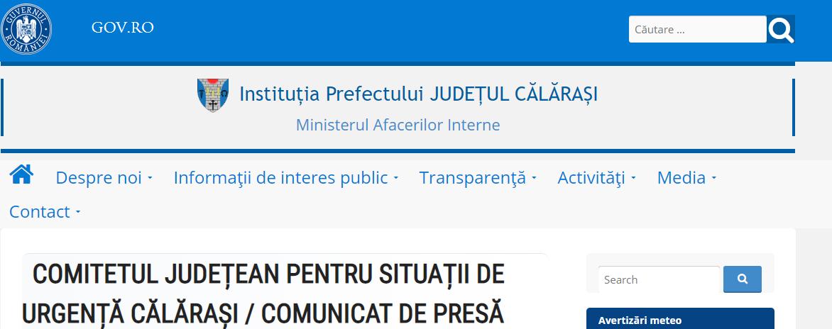 Comunicat de presă, 17.03.2020/Comitetul Județean pentru Situații de Urgență
