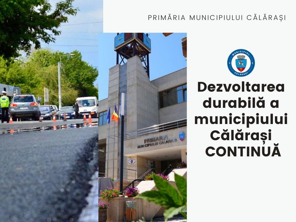 Primăria Călărași a demarat o nouă investiție în infrastructura de utilități