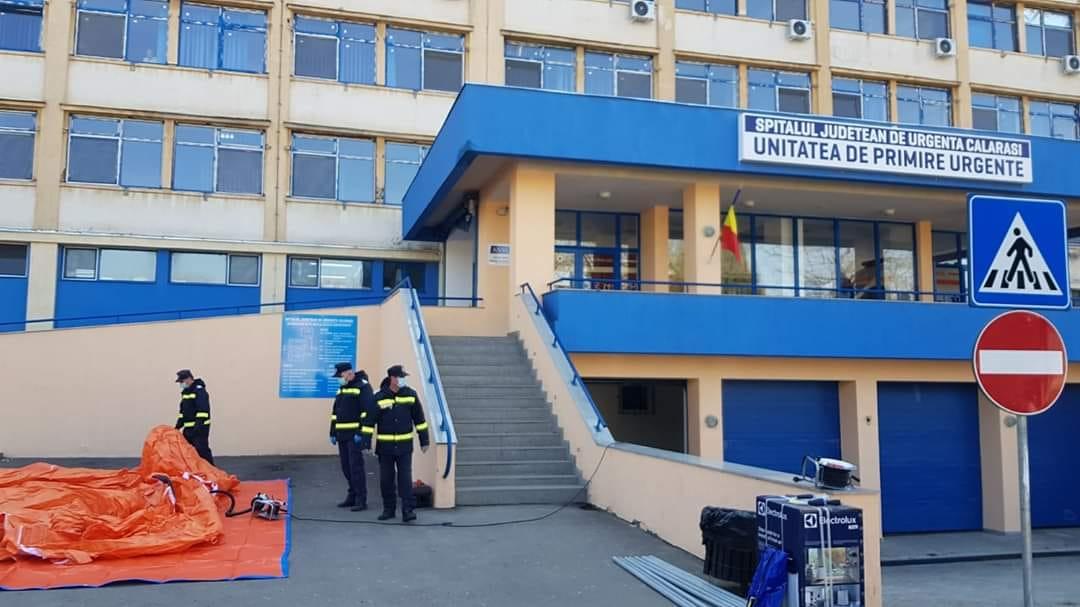 Spitalul Județean Călărași a distribuit echipamente și produse de protectie, pe fiecare secție