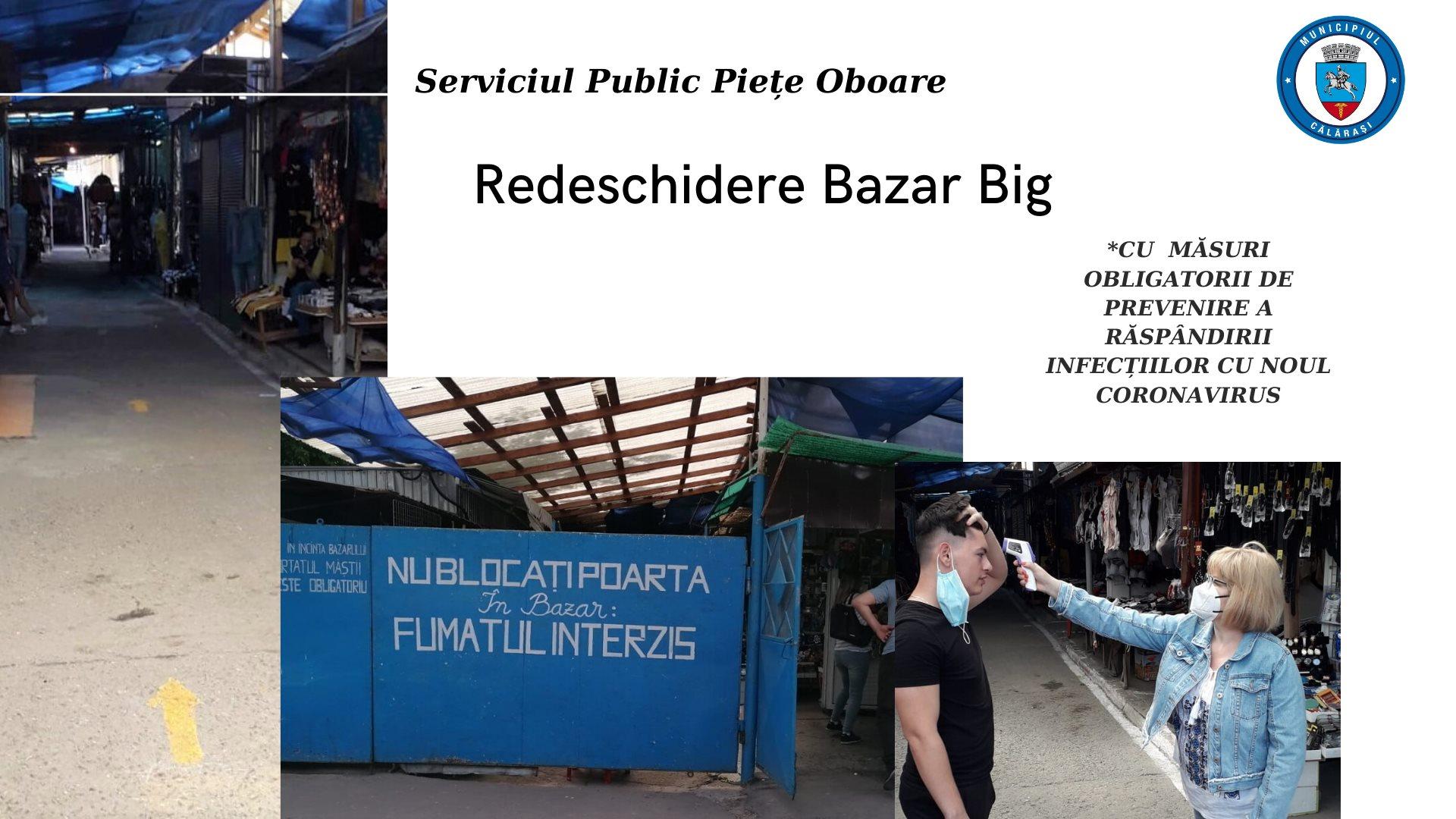 Se redeschide activitatea comercială în Bazar Big