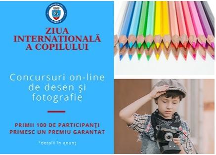 Primăria municipiului Călărași le propune copiilor concursuri online, cu ocazia Zilei Internaționale a Copilului