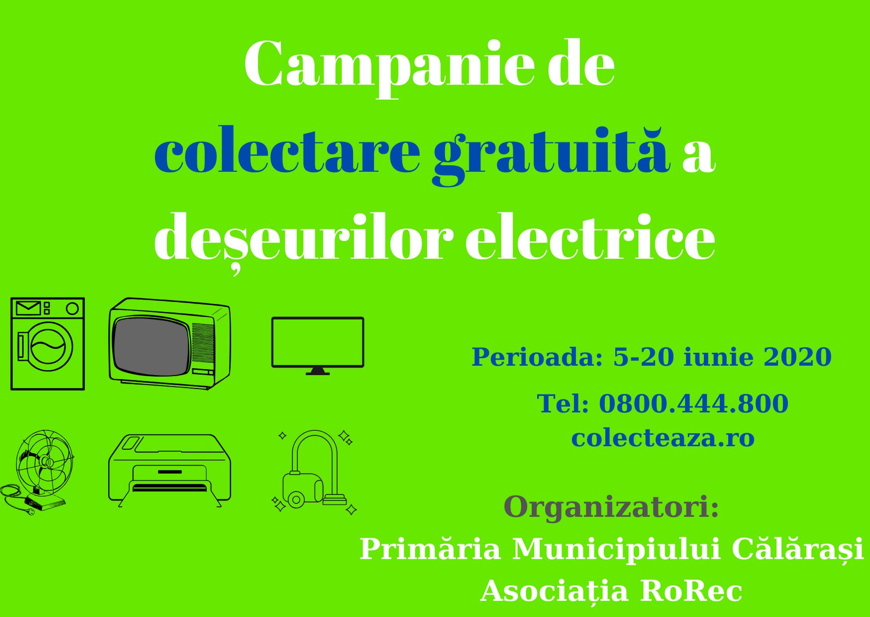 Primăria Călărași organizează o acțiune specială de colectare a deșeurilor electrice