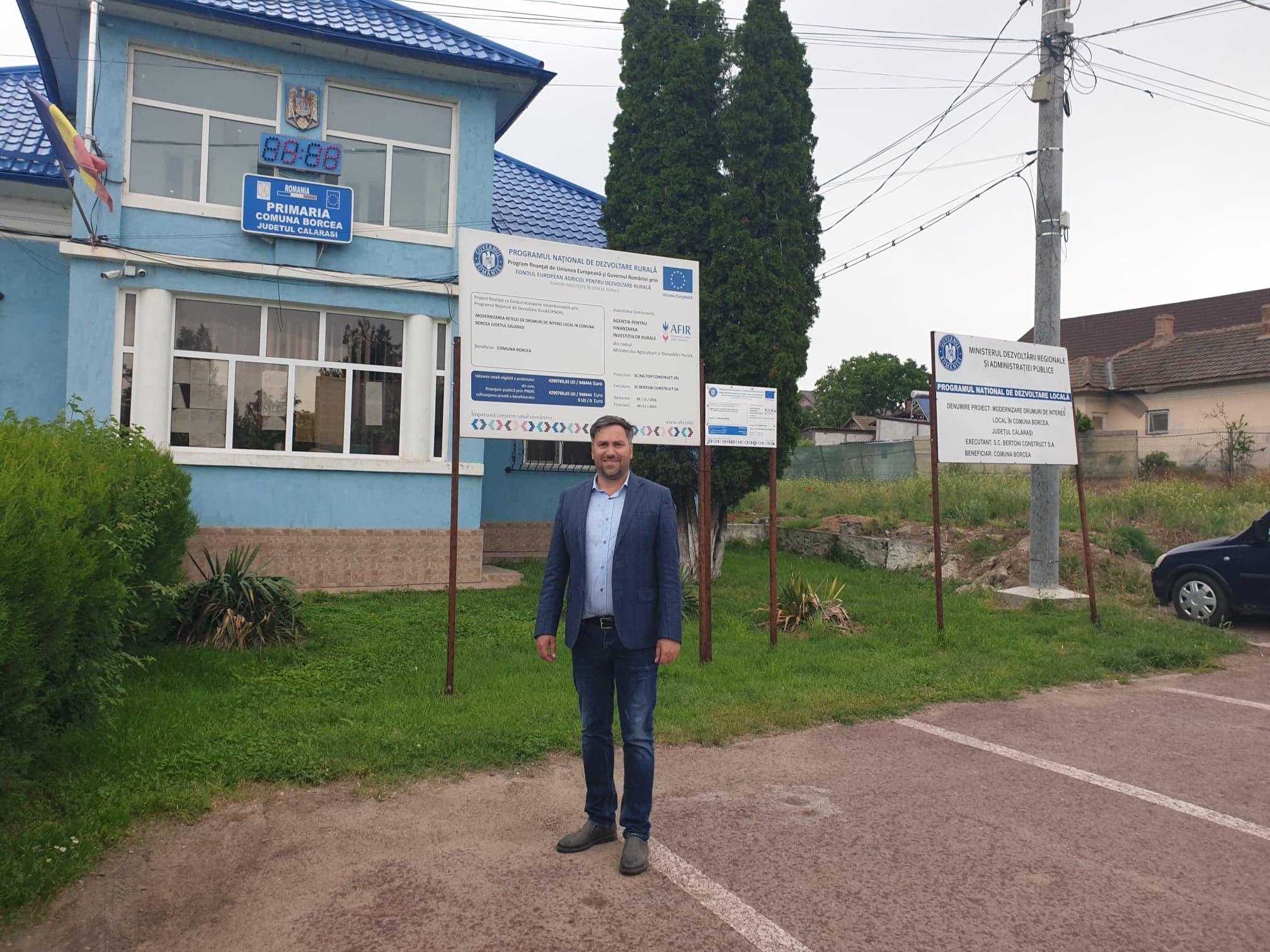 """Primarul Aniel Nedelcu Pațurcă:,,În comuna Borcea vom avea o modernă sală de sport, prevăzută cu 360 de locuri"""""""